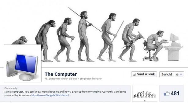 De geschiedenis van computers op Facebook