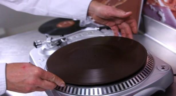 Een LP van chocolade