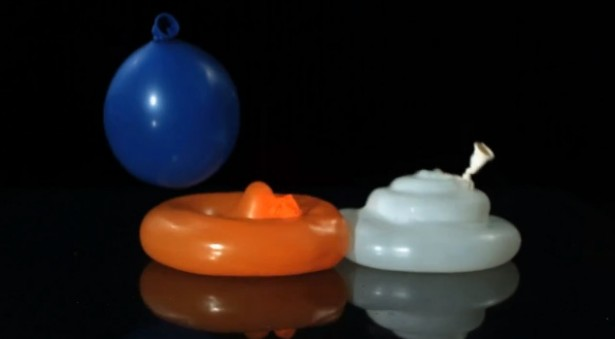 Waterballonnen in slow-motion
