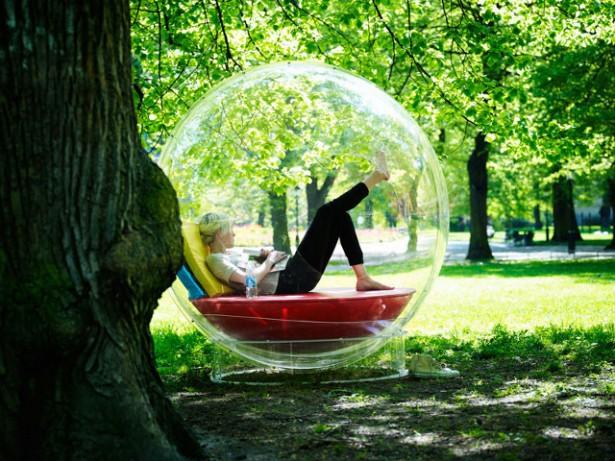 Cocoon: extreme rust in een doorzichtige bal