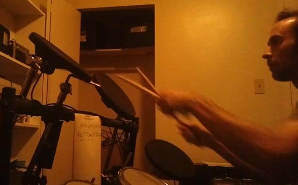 E-mailen met een drumstel