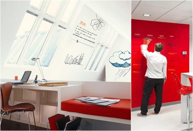 Ideapaint maakt van iedere muur een whiteboard