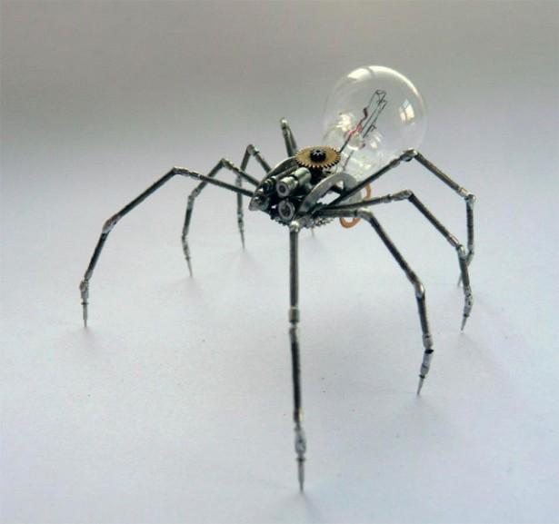 Mechanische insecten van oude horloge-onderdelen