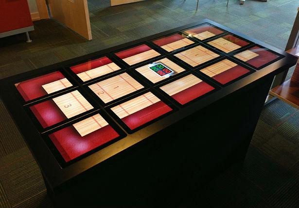 Een tafel van iPads