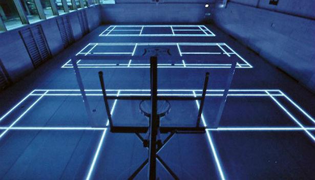 LEDs maken een sportveld geschikt voor meerdere sporten