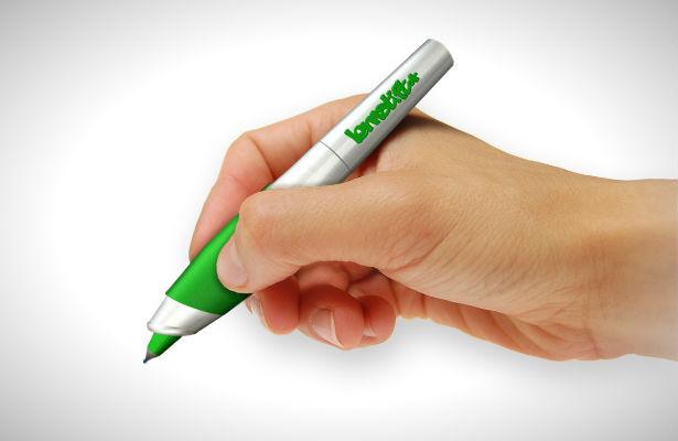 Pen met ingebouwde spellingcorrectie