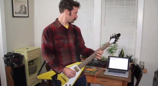 E-mailen met een gitaar