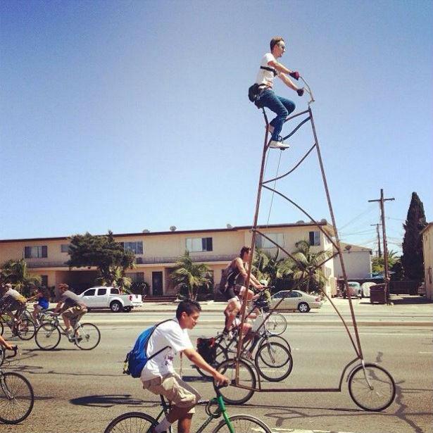 Stoopid Tall: fiets van 4,5 meter hoog