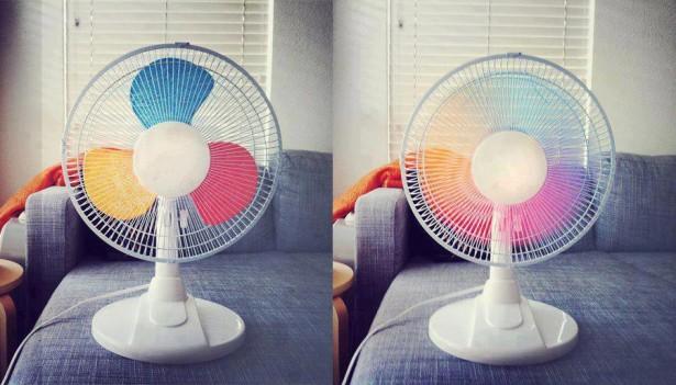 DIY: regenboog ventilator