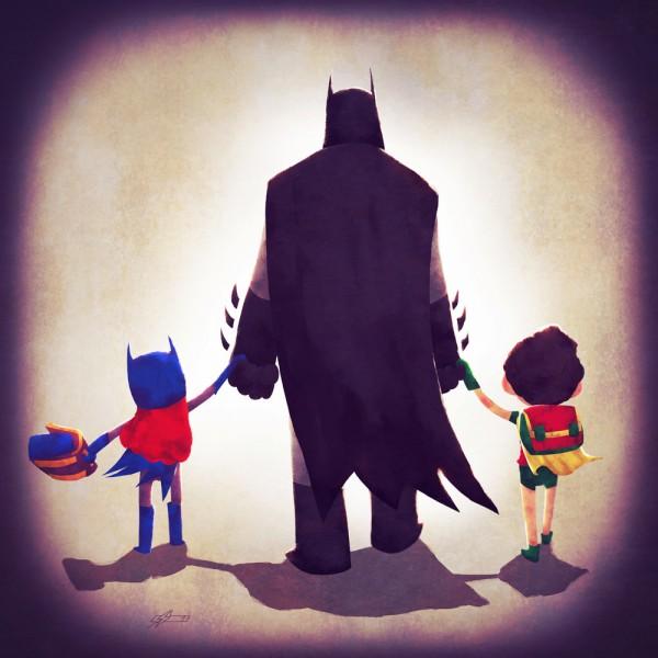 Superhelden als vaders en moeders