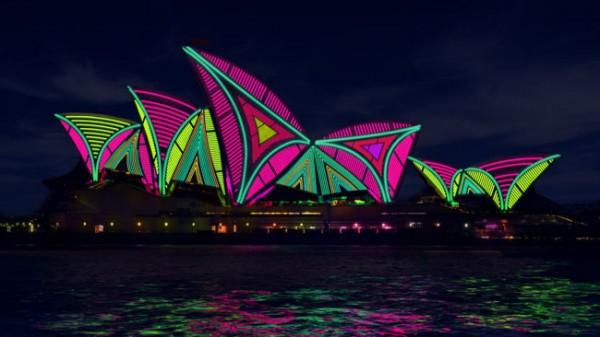 Projection Mapping op het Sydney Opera House