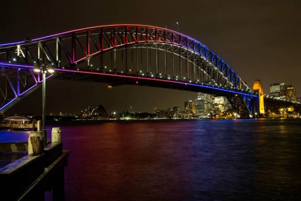 Sydney's Harbour Bridge als lichtshow