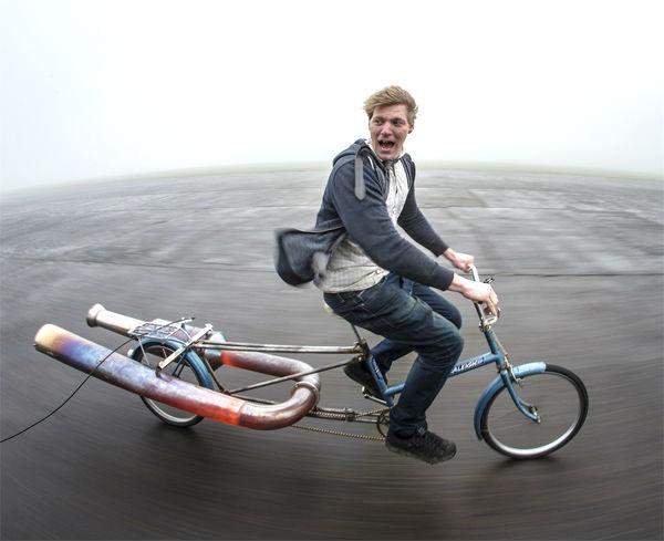 Jet Bicycle: een fiets met een straalmotor