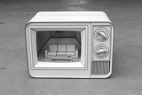 Elektronica van karton als mooie diorama's