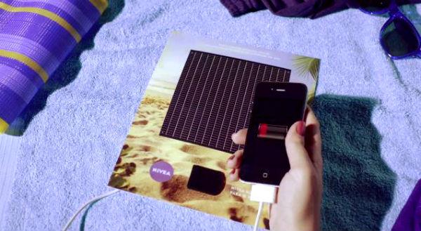 NIVEA verwerkt zonnepaneel in advertentie
