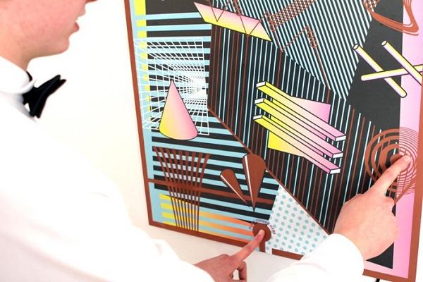 Interactieve poster is te bespelen als een muziekinstrument
