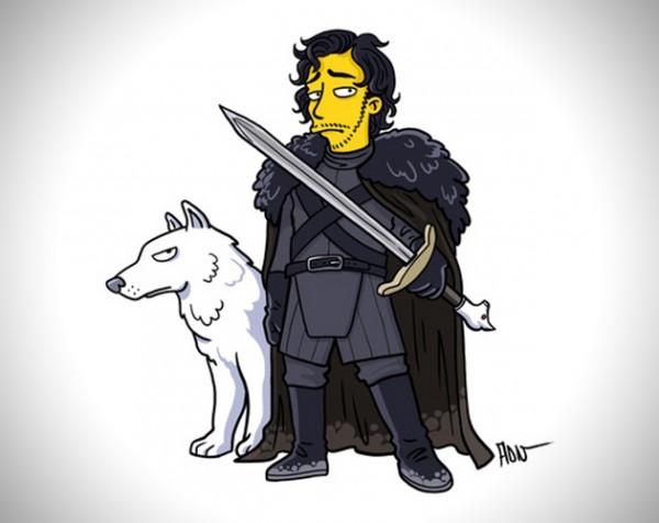Game of Thrones karakters als personages uit de Simpsons