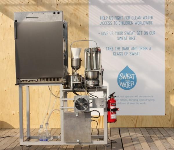 Deze machine zet zweet om in drinkwater