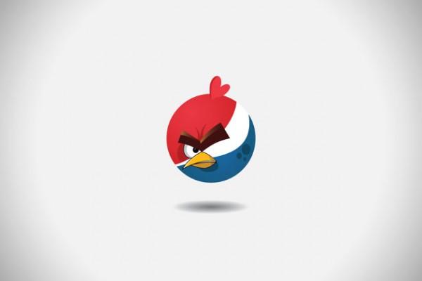Angry Brands: logo's van bekende merken als Angry Birds