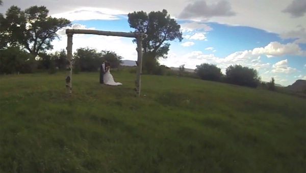 Laat je bruiloft NIET filmen met een drone