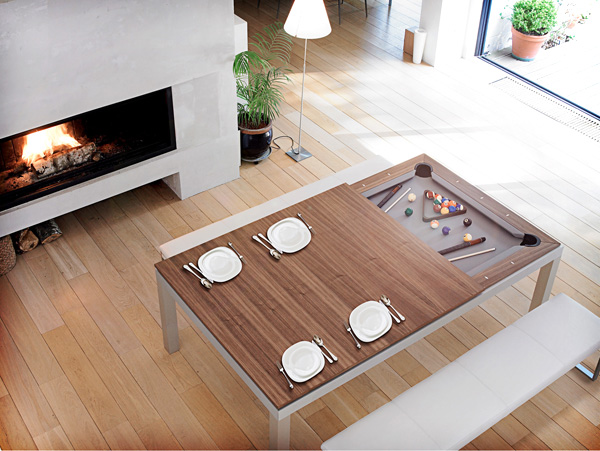 Fusion Table: pooltafel en eettafel in één