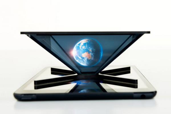 Holho verandert smartphones en tablets in hologram-projectors