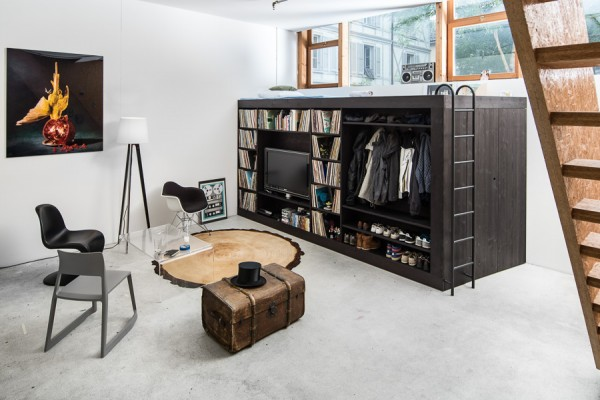 Living Cube: bed, kast en opslagruimte in één