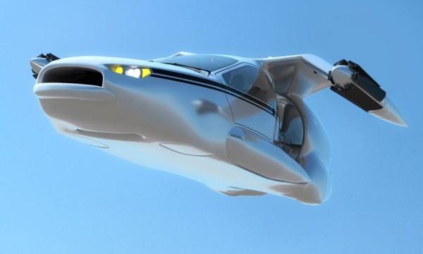Terrafugia vliegende auto maakt zijn eerste publieke testvlucht