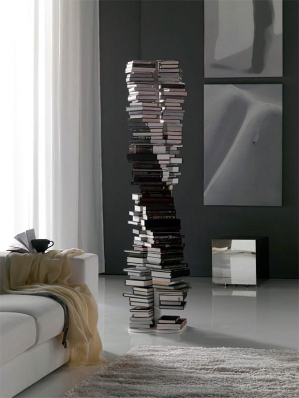DNA Bookcase: boekenkast in de vorm van een dubbele helix