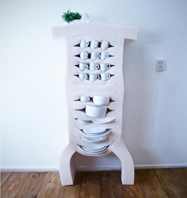 Soft Cabinets: zachte kastjes die zijn gemaakt van schuimrubber