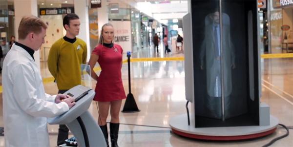 Deze Star Trek machine teleporteert shoppers naar een andere plek