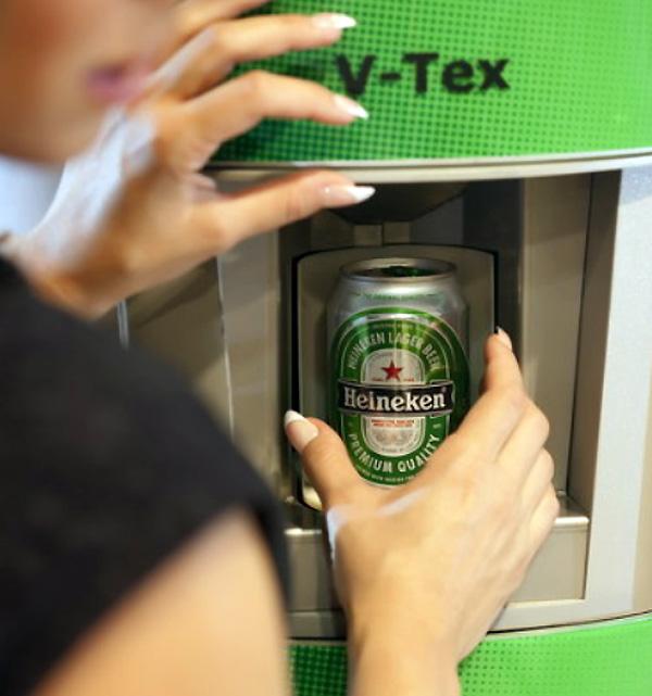 V-Tex technologie maakt een drankje ijskoud in 45 seconden