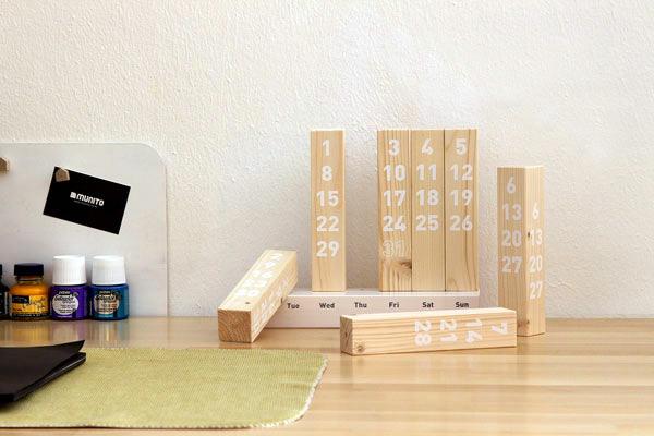 Wood Calendar: een stijlvolle kalender van hout