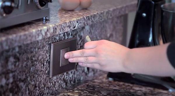 Pop-Out Outlet: een handig stopcontact dat zich verstopt in de muur