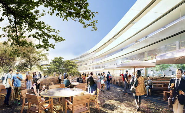 Maak een virtuele rondreis door Apple's nieuwe hoofdkantoor