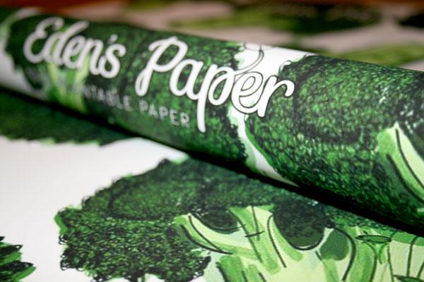 Eden's Paper: inpakpapier waarin zaadjes zijn verwerkt