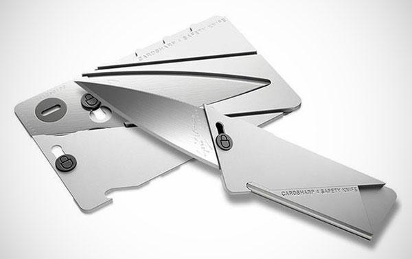 CardSharp: een mes voor in je portemonnee