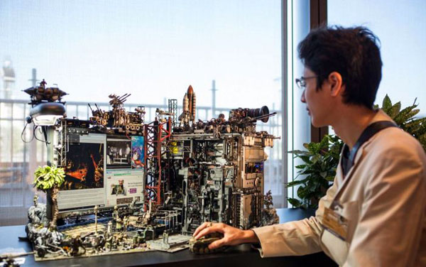 Van computer tot kunstwerk: Hiroto Ikeuchi maakt casemods als geen ander