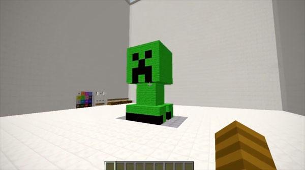 Een 3D-printer in Minecraft
