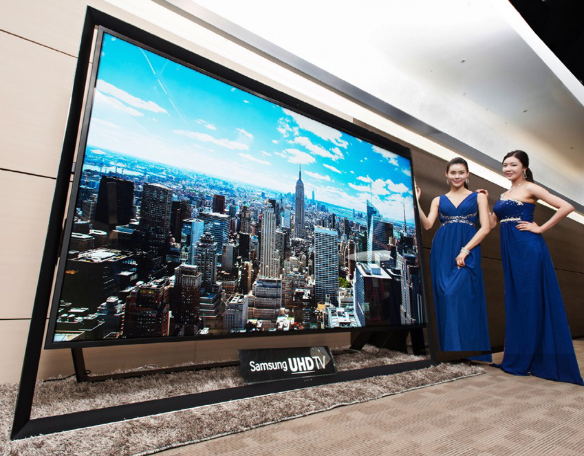 samsung presenteert de grootste ultra hdtv ter wereld. Black Bedroom Furniture Sets. Home Design Ideas