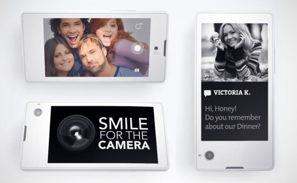 Yotaphone: een smartphone met twee schermen