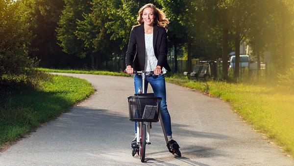 Aeyo: de verrassende combinatie van een fiets en inline skates