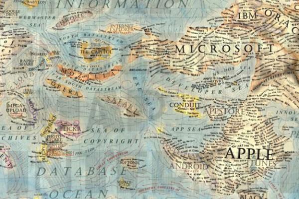 Wow: een belachelijk gedetailleerde kaart van het internet
