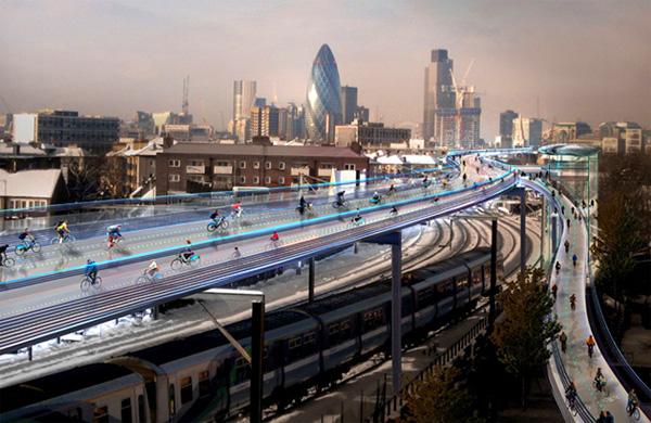 SkyCycle: de toekomst van transport in Londen?