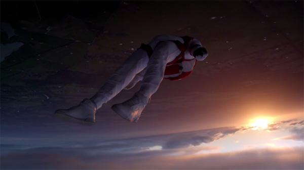 Slow-motion op zijn mooist: skydivers die terugkeren naar de aarde