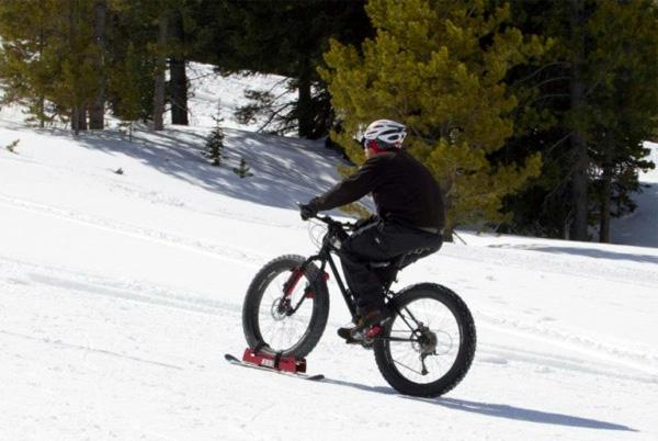 BikeBoards: fietsen in de sneeuw
