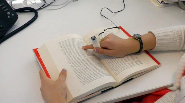 Met deze ring kunnen blinden 'lezen'