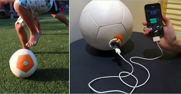 Nu te koop: een voetbal die energie opwekt