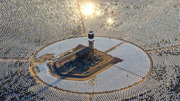 Schitterend: 's werelds grootste zonnekrachtcentrale