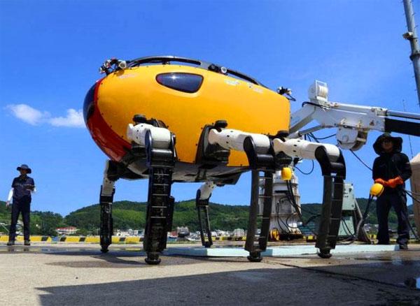 Crabster: een enorme krab-robot waarmee de zeebodem kan worden verkend